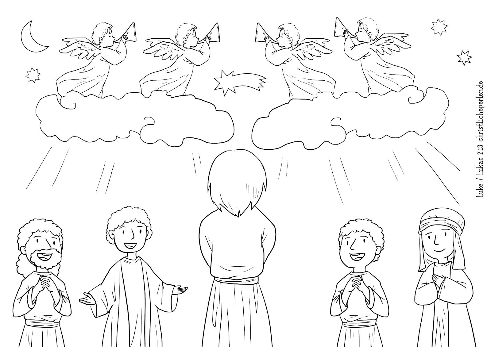 Weihnachten Engel Comic