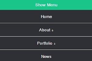 CSS JavaScript menu drop down  Responsive