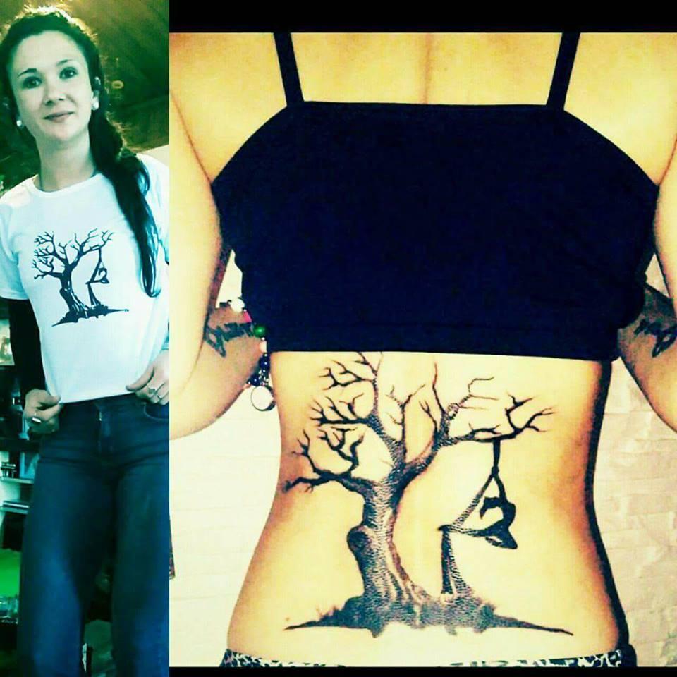 Remera Personalizda igual a su tatuaje