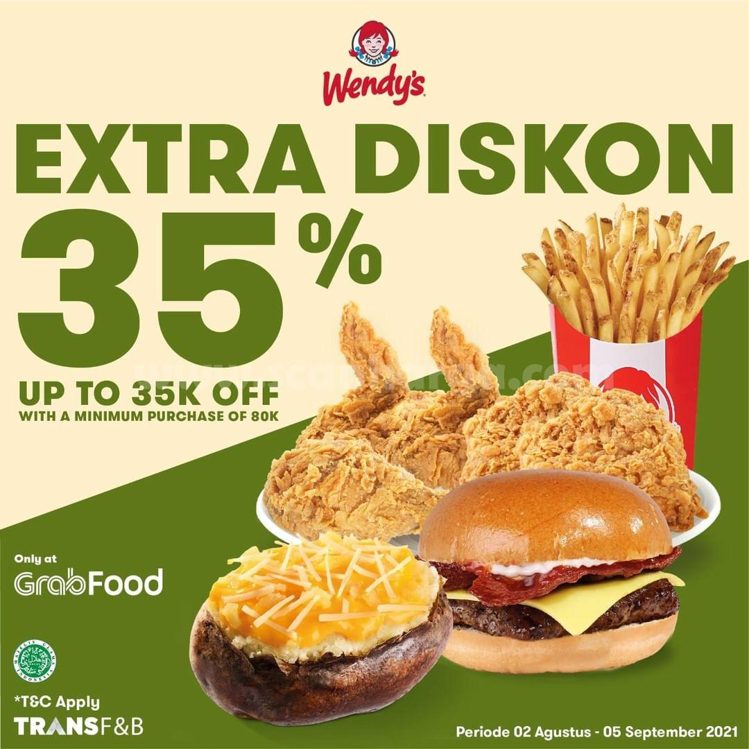 WENDY'S Promo Diskon hingga 35% via Grabfood