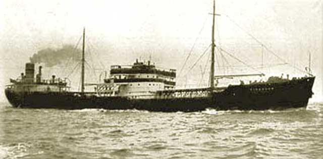 MV Eidanger, sunk on 24 February 1942 worldwartwo.filminspector.com