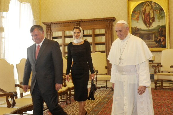 King Abdullah and Queen Rania  Meet The Pope In Vatican City