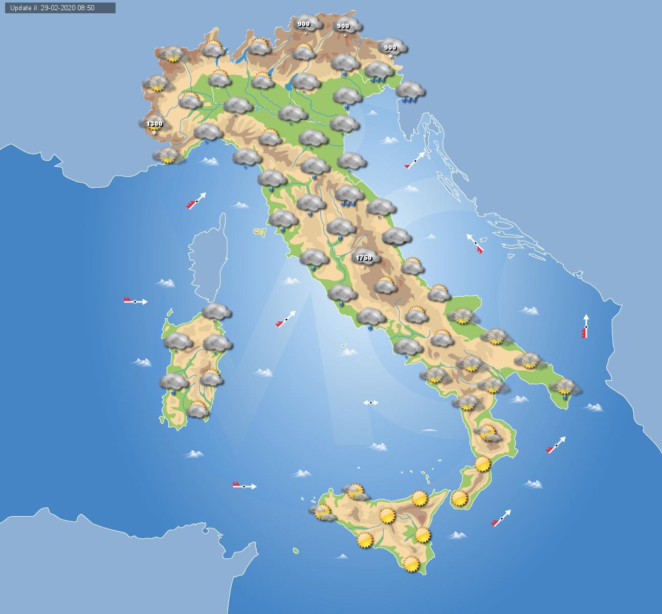 Meteo Cartina Italia.Meteo Italia Come Vedere Le Previsioni Del Tempo In Italia In Un Colpo D Occhio