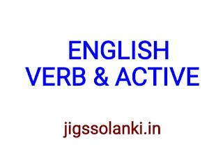 ENGLISH GRAMMAR:- VERB & ACTIVE NOTE