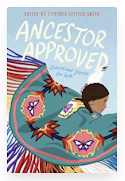Cover image of book Ancestor Approved. A person is dancing at a powwow.