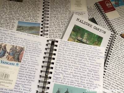 Old holiday vacation diaries and scrapbooks