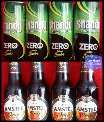 Shandy Zero Cruzcampo y Amstel Oro