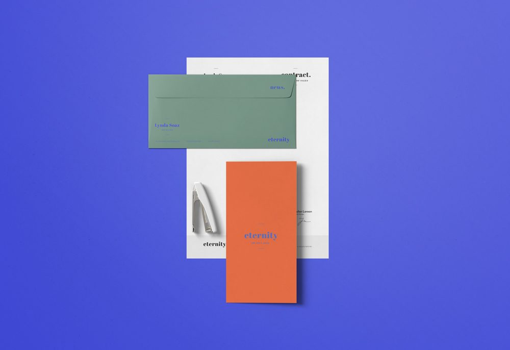 Simple Minimal Stationery Mockup