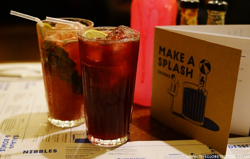 Mocktails at Wahaca Shoreditch