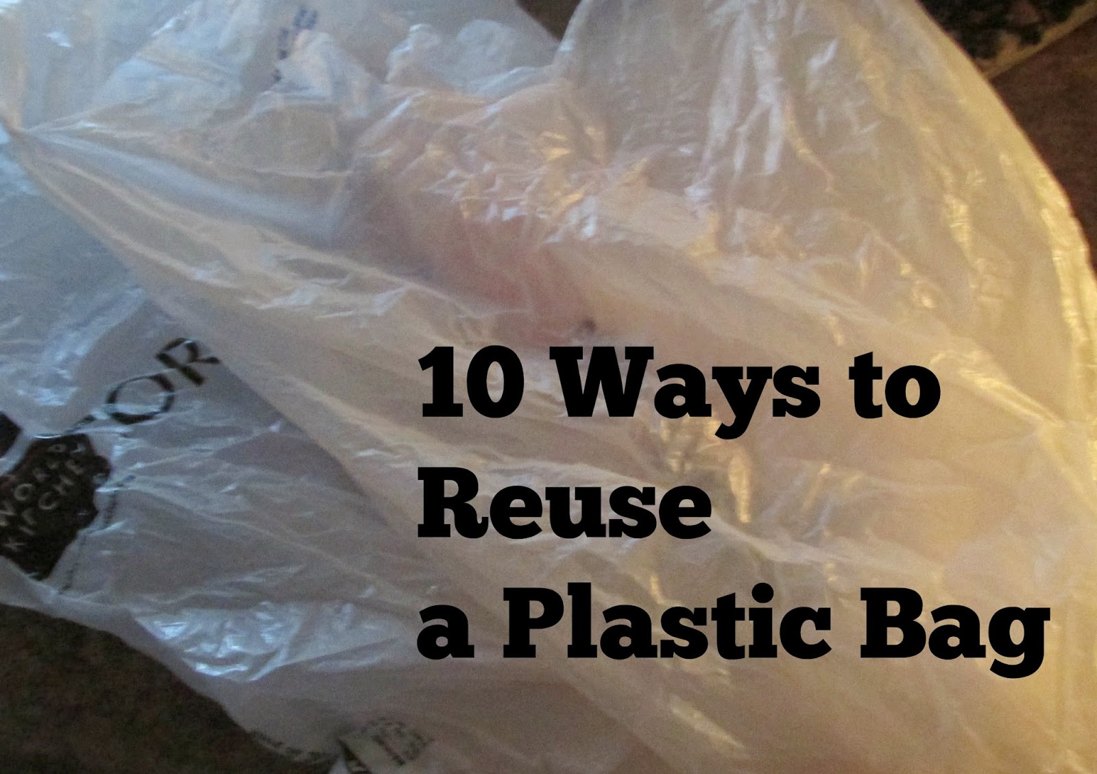 10 ways to Reuse a Plastic Bag