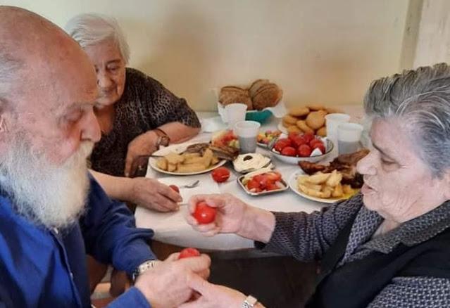 Γεμάτο και φέτος το πασχαλινό τραπέζι στο Γηροκομείο Ναυπλίου