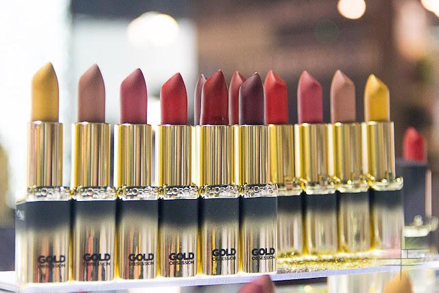 Nueva Colección Color Riche Gold Obssesion de L'Oreal: labiales dorados.