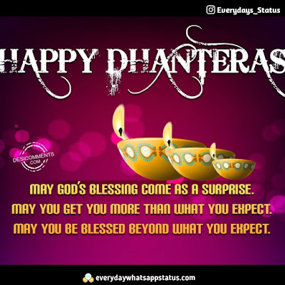 Happy Dhanteras Wishes in Hindi | Everyday Whatsapp Status | FREE UNIQUE 50+ happy Dhanteras Inages Download