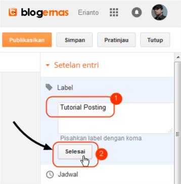 Cara Membuat Label Postingan pada Blog