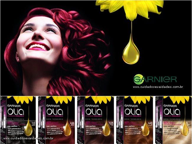 Olia - Garnier: Nova tintura permanente sem amônia!