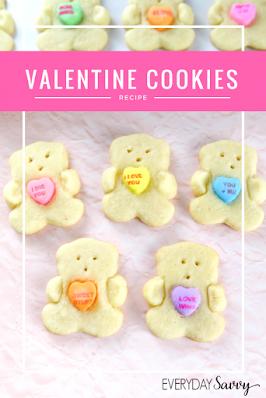 Easy Valentine Day Sugar Cookies.