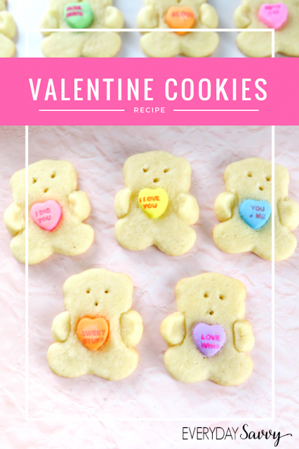Easy Valentine Day Sugar Cookies.