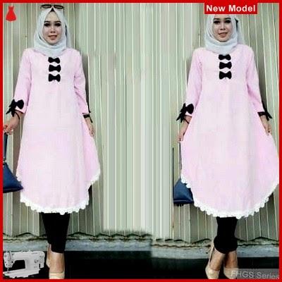 FHGS9022 Model Tunik Zafir Baby, Perempuan Pink Tunik Wolly BMG