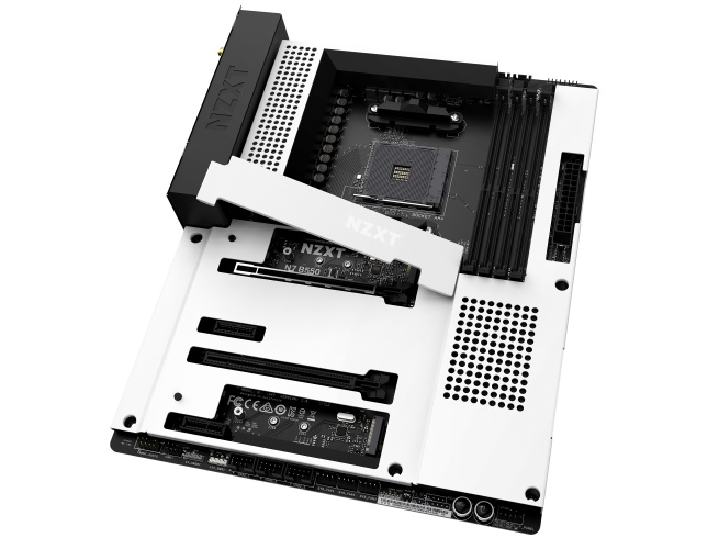 NZXT N7 B550 motherboard white