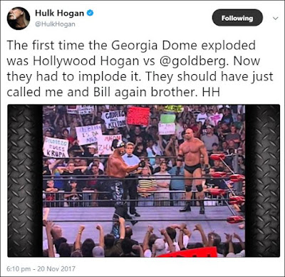 Hulk Hogan Tweets About The Georgia Dome