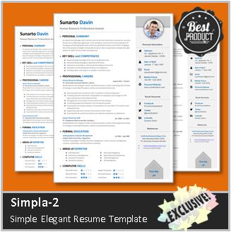Desain CV Kreatif: Curriculum Vitae Simpel dan Elegan  Simpla 2