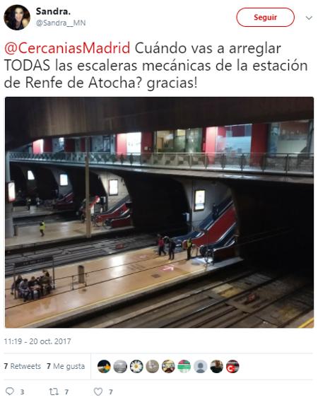 Cuando arreglar escaleras mecánicas de la estación de Renfe de Atocha
