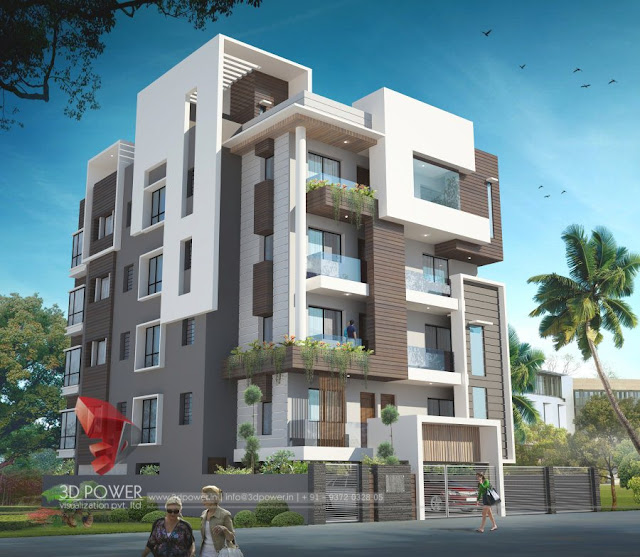 Ultra modern home designs home designs 3d exterior home for Apartment villa design