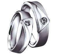 cincin nikah couple silver permata