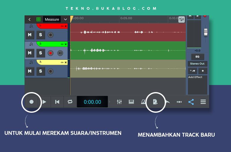 Cara melakukan rekaman di ntrack studio