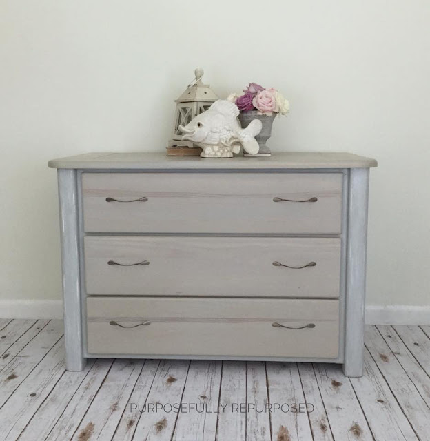 dresser makeover with cable pulls