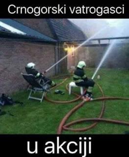 Crnogorski vatrogasci u akciji