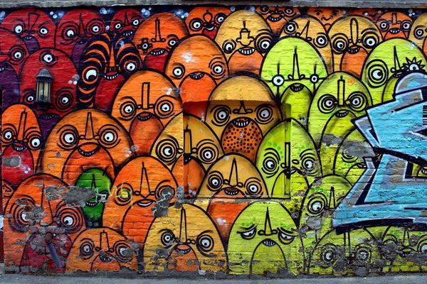 Grafiti atau Lukisan Dinding ketidak adilan