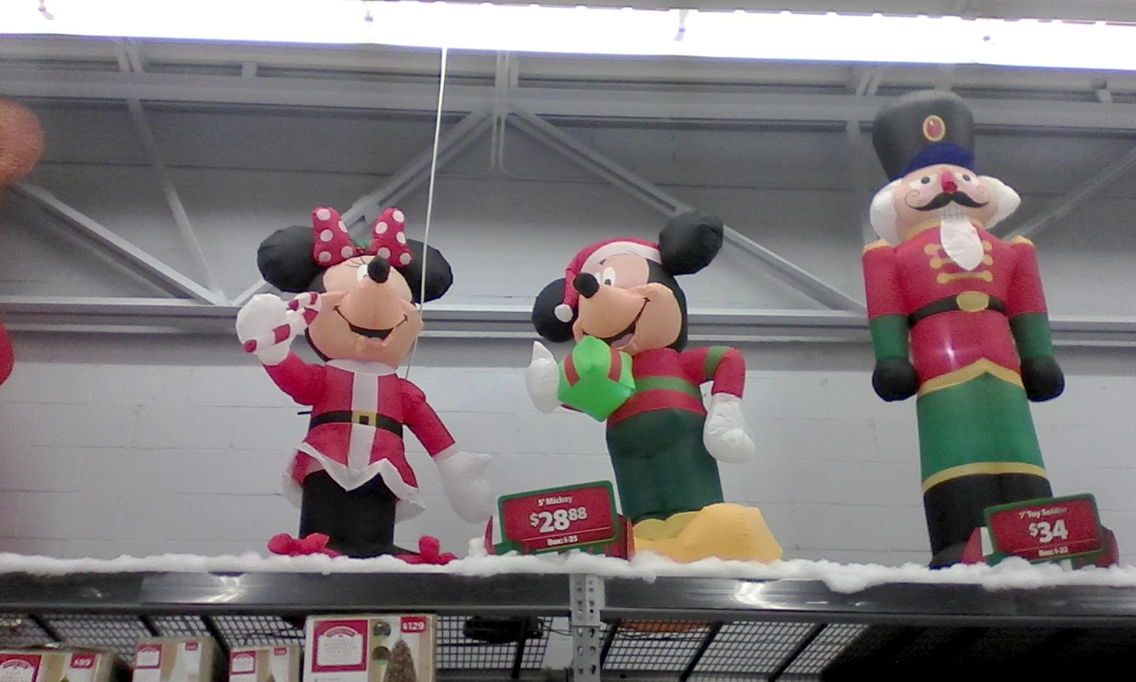 these disney christmas blow up yard decorations were up as early as oct 11th at the local walmart a bit too early for christmas dont ya think - Mickey Mouse Christmas Blow Up