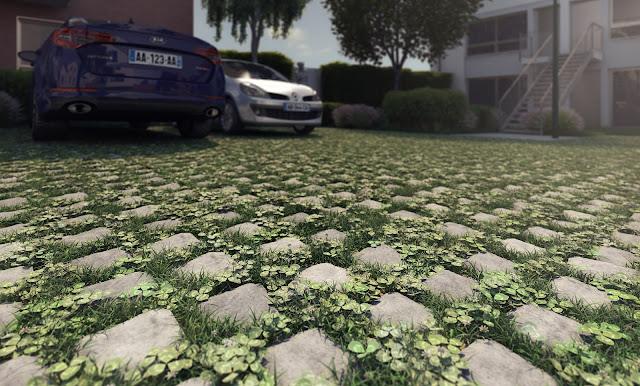 Perspectives 3D de la végétalisation du sol
