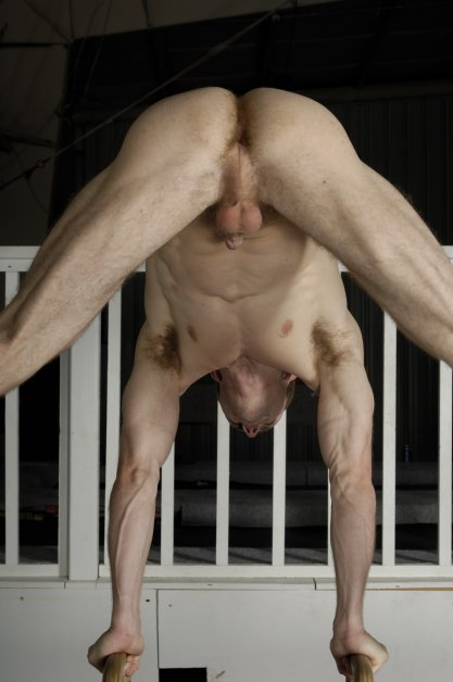 Naked gymnasts