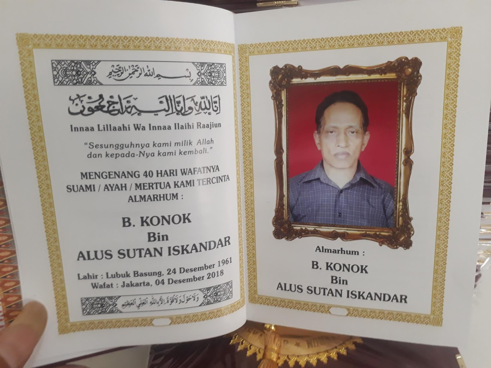 Tempat Cetak Buku Yasin Jakarta Contoh Buku Yasin 40 Hari