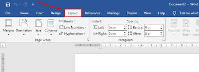 cara mengubah layout kertas di microsoft word