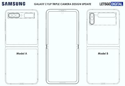 Desain Samsung Galaxy Z Flip 2