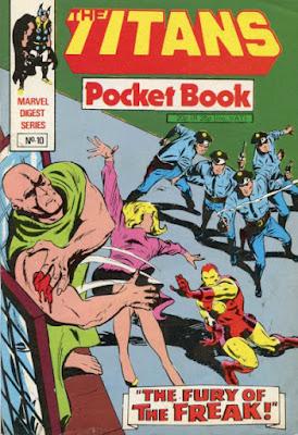 Titans pocket book #10, Iron Man and the Freak