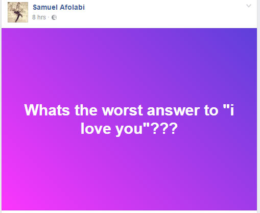 """Whats the worst answer to """"I love you""""? Check out these hilarious replies"""