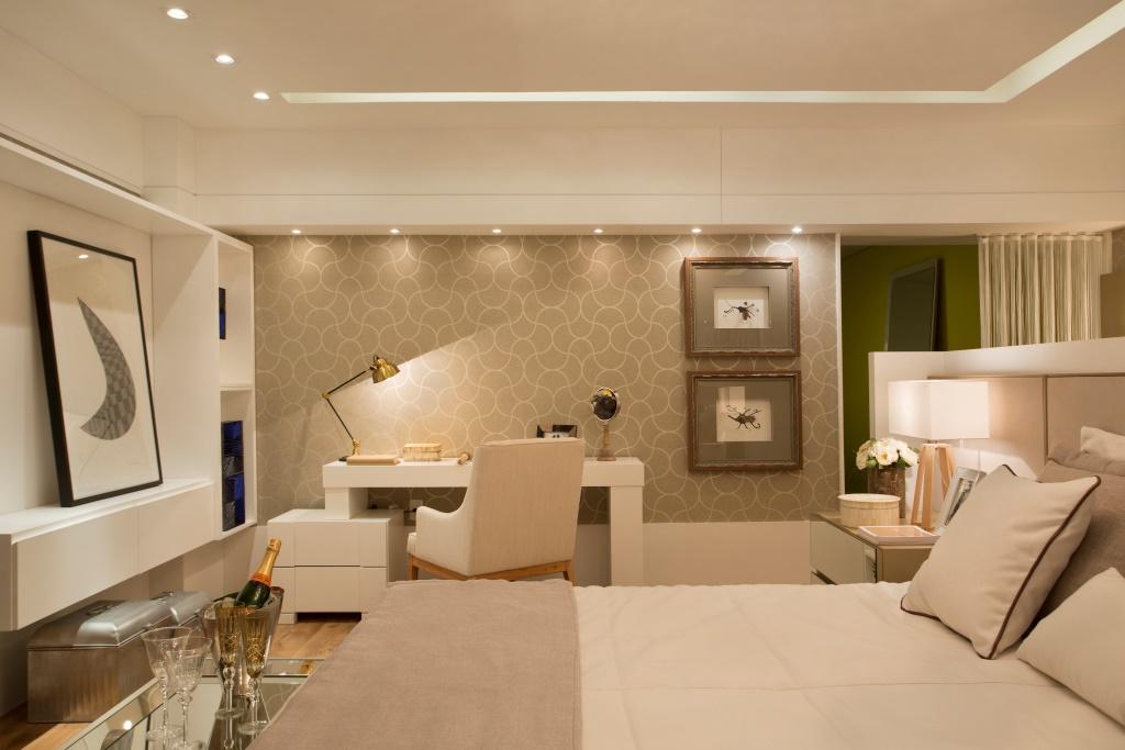 Quarto com cama no centro ótima ideia para ganhar espaço  ~ Quarto Casal Ilha Grande