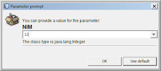 Kelas Informatika - Parameter Prompt iReport Java