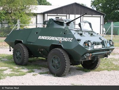 BSG SW 2 armoured car 20mm cannon