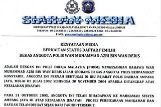 identiti Wan Muhammad Azri Wan Deris Papagomo