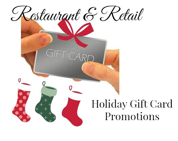 if you need some last minute gift ideas here is a list of wny restaurants retail locations that are offering bonus gift certificates or items when you - Holiday Gift Card Promotions 2017