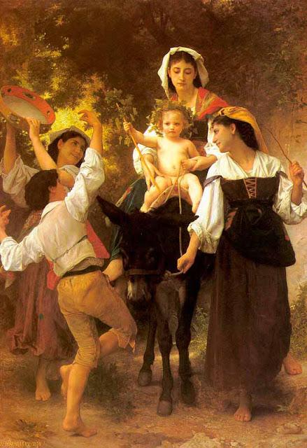 Адольф Вильям Бугро - Возвращение со сбора урожая (1878)