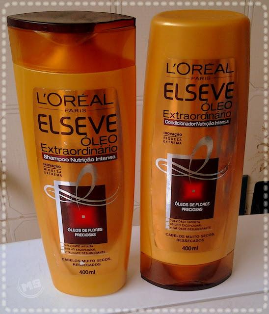 6532d9879 Resenha Shampoo e Condicionador da Linha Elseve Óleo Extraordinário  Nutrição Intensa