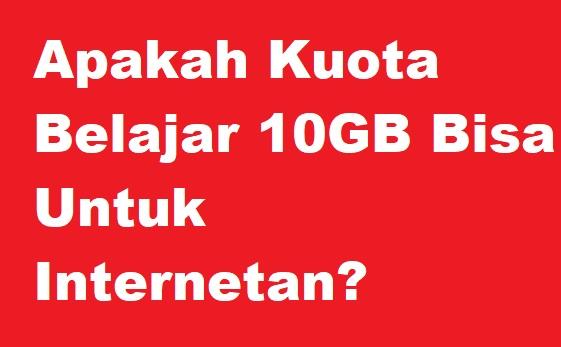 Banyak yang menyalahgunakan kuota belajar  Cara Mengubah Kuota Belajar Telkomsel 10GB Menjadi Kuota Reguler Apakah Bisa Untuk Internetan?