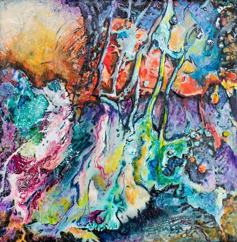 Abstract Paintings by Edith Lüthi from Switzerland.