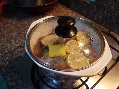 Halabos na Hipon sa Sprite with Lemon - Cooking Procedure
